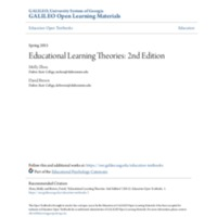 Educational Learning Theories: 2nd Edition