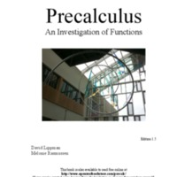 Precalculus: An Investigation of Functions (Includes Trig) 1st Ed