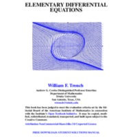 Elementary Diferrential Equantions