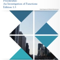 Precalculus An Investigation of Functions Edition 1.5<br />