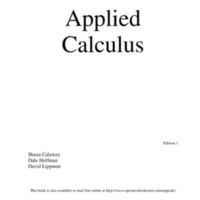 Applied Calculus <br />