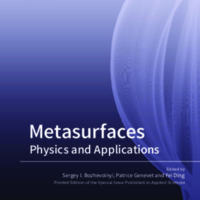 Metasurfaces: Physics and Applications